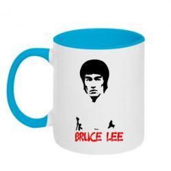Кружка двухцветная 320ml Bruce Lee