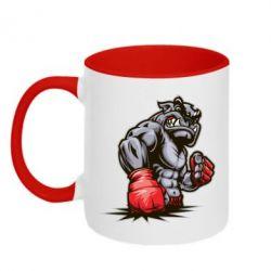 Кружка двухцветная Bulldog MMA - FatLine