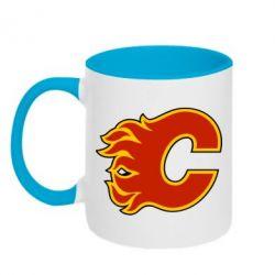 Кружка двухцветная Calgary Flames - FatLine