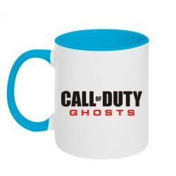 Кружка двухцветная Call of Duty Ghosts Logo - FatLine