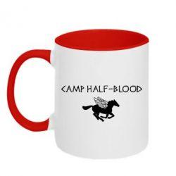 Кружка двухцветная Camp half-blood - FatLine
