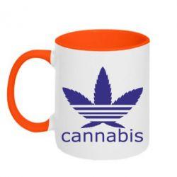 Кружка двоколірна 320ml Cannabis