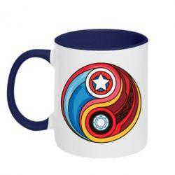 Кружка двухцветная Captain America & Iron Man - FatLine