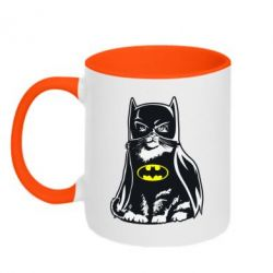 Кружка двухцветная Cat Batman - FatLine