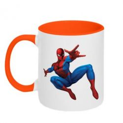 Кружка двухцветная Человек Паук - FatLine