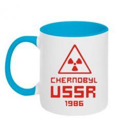 Кружка двухцветная Chernobyl USSR - FatLine