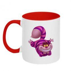 Кружка двухцветная Чеширский кот - FatLine