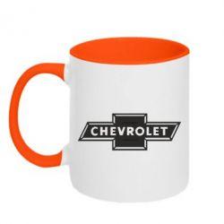 Кружка двухцветная Chevrolet Logo Small - FatLine