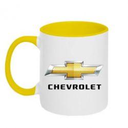 Кружка двухцветная Chevrolet Logo - FatLine