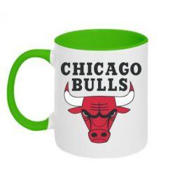 Кружка двухцветная Chicago Bulls Classic - FatLine
