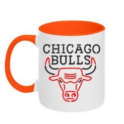 Кружка двухцветная Chicago Bulls Logo - FatLine