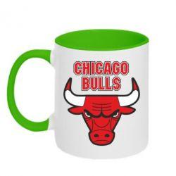 Кружка двухцветная Chicago Bulls vol.2 - FatLine