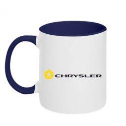 Кружка двухцветная Chrysler Logo - FatLine