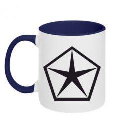 Кружка двухцветная Chrysler Star - FatLine