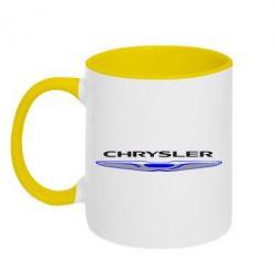 Кружка двухцветная Chrysler - FatLine