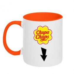 Кружка двухцветная Chupa Chups - FatLine