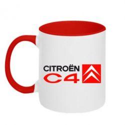 Кружка двухцветная CITROEN C4 - FatLine