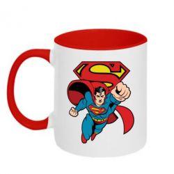 Кружка двухцветная Comics Superman - FatLine