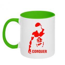 Кружка двухцветная Conquer - FatLine
