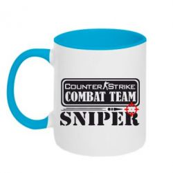 Кружка двухцветная Counter Strike Combat Team Sniper - FatLine