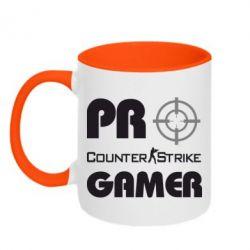 Кружка двухцветная Counter Strike Pro Gamer - FatLine