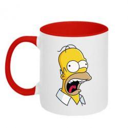Кружка двухцветная Crazy Homer! - FatLine