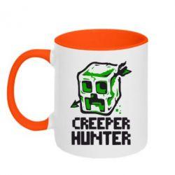 Кружка двухцветная 320ml Creeper Hunter