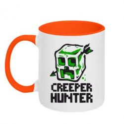 Кружка двухцветная Creeper Hunter - FatLine