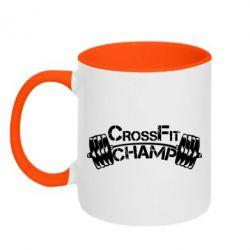 Кружка двухцветная CrossFit Champ - FatLine