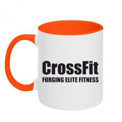 Кружка двухцветная Crossfit Forging Elite Fitness - FatLine