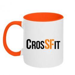 Кружка двухцветная CrossFit SF - FatLine
