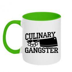 Кружка двоколірна 320ml Culinary Gangster