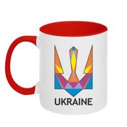 Кружка двухцветная Цветной герб - FatLine