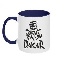 Кружка двухцветная DAKAR LOGO - FatLine