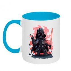 Кружка двухцветная Darth Vader Force - FatLine