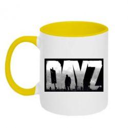 Кружка двухцветная Dayz logo - FatLine