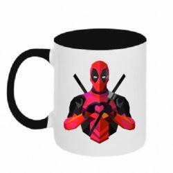 Кружка двухцветная Deadpool Love
