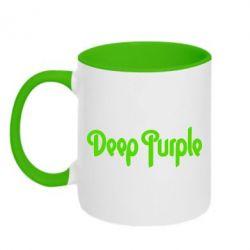 Кружка двухцветная Deep Purple - FatLine