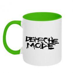 Кружка двухцветная Depeche mode - FatLine
