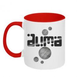 Кружка двухцветная Дима