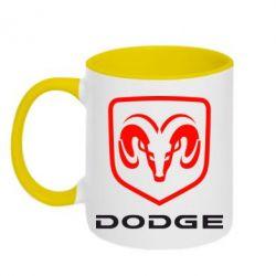 Кружка двухцветная DODGE - FatLine