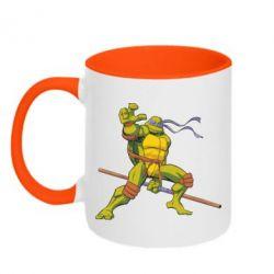 Кружка двухцветная Donatello - FatLine