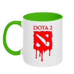 Кружка двухцветная Dota 2 Logo - FatLine