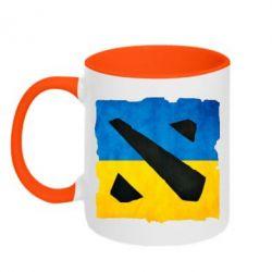 Кружка двухцветная Dota 2 Ukraine Team - FatLine
