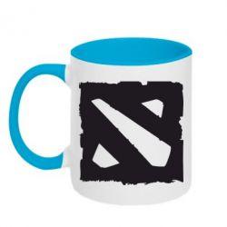 Кружка двухцветная Dota Logo Дота - FatLine