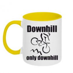 Кружка двоколірна 320ml Downhill,only downhill