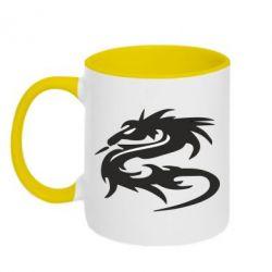 Кружка двухцветная Дракон - FatLine