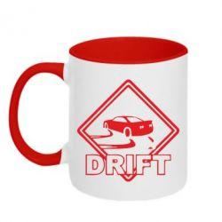 Кружка двухцветная Drift - FatLine