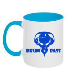 Кружка двухцветная Drumm Bass - FatLine