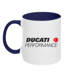 Кружка двухцветная Ducati Perfomance - FatLine